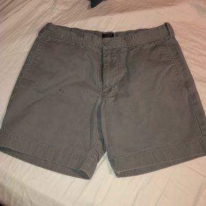 J Crew Reade Gray Khaki Shorts waist 31 6.5 inseam